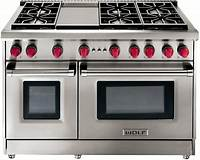 "wolf appliances prices Wolf 48"" Stainless Steel Gas Range With Griddle - GR486G"