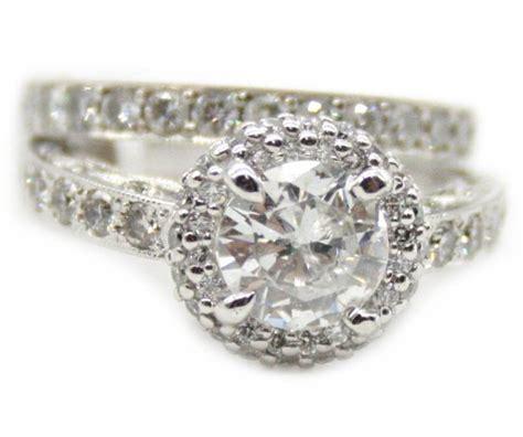tacori wedding ring sets tacori 18k white gold wedding ring with 1 01ct dia the center 1 20ct dia the