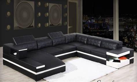 canape cuir panoramique pas cher canapé d 39 angle en cuir félice u lecoindesign
