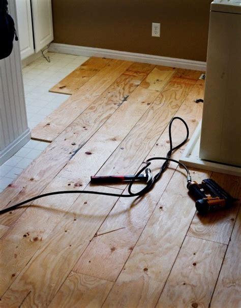hardwood floor diy diy plywood flooring diy pinterest
