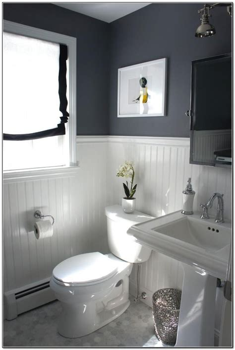 Bathroom Decorating Ideas by 40 Gray Half Bathroom Decorating Ideas On A Budget