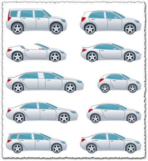 Cartoon Vehicles Vector Shapes