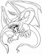 Spawn Wyvern Pencil Coloring Template sketch template