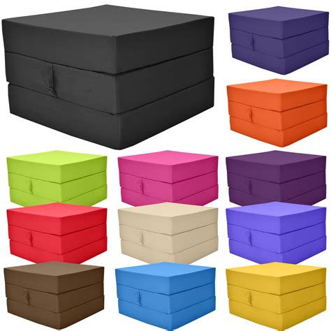 fold out cube guest z bed chair stool single futon