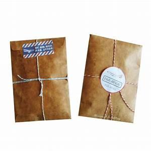 brown craft paper envelope retro envelopes invitation With brown letter envelopes