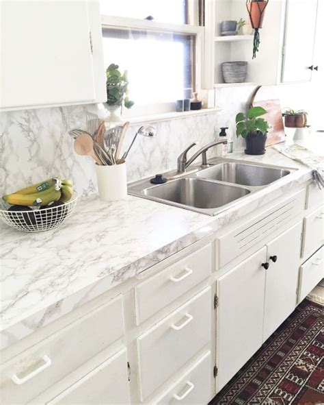 Adhesive Backsplash Tiles For Kitchen - my faux marble countertops simply grove