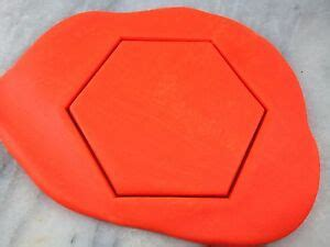 hexagon cookie cutter outline choose   size shape
