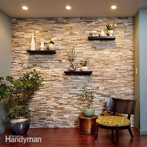 chic diy stone  faux stone accent walls shelterness