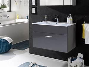 Waschtisch Mit Becken : sunny waschtisch inkl becken mit einer schublade grau ~ Indierocktalk.com Haus und Dekorationen