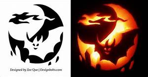 10 Free Halloween Scary  U0026 Cool Pumpkin Carving Stencils
