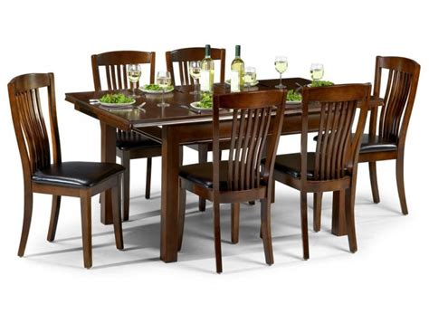 mahogany dining table and 6 chairs 3937
