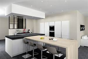 Idees deco pour une cuisine realiste et pleine de vie for Idee deco cuisine avec meuble salle a manger contemporain