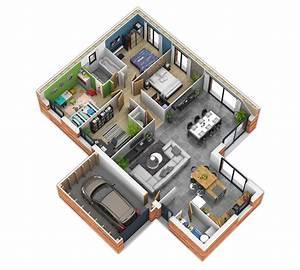 Plan De Maison 3d Plain Pied   Infos Et Ressources