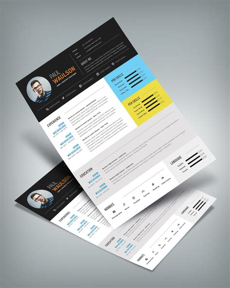 modern resume psd free free modern resume template for web graphic designer psd file resume