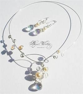 creation bijoux mariage fin avec goutte de verre irise With création bijoux mariage
