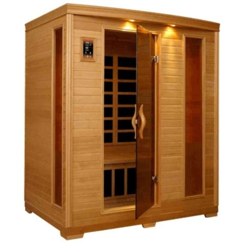 2 mann sauna radiant sauna 1 to 2 person hemlock infrared sauna with 4 carbon heaters bsa2402 the home depot