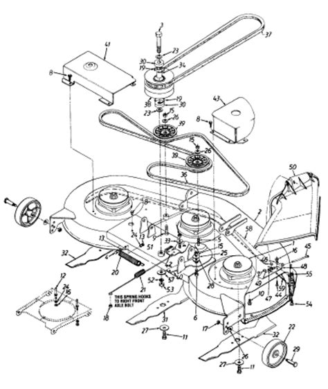 mtd 46 inch deck belt routing 42 mtd engine pulley diagram 42 free engine image for
