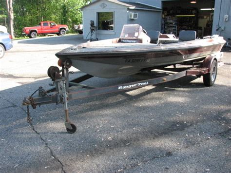 Ranger Bass Boat For Sale Va by 1989 Ranger 361v Bass Boat 17 Ft Trailer For Sale In