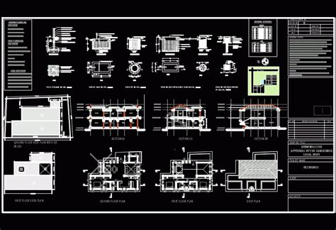 residence drawing submission dwg detail  autocad