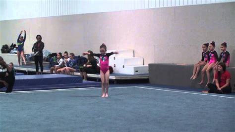 eve s 1st gymnastics meet level 3 floor routine youtube