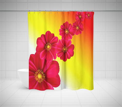 shower curtain flowers floral shower curtain roses tulips other flowers