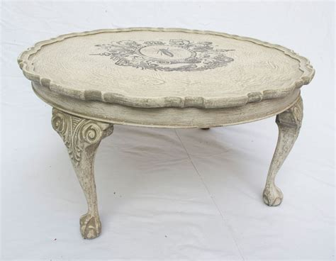 shabby chic tables shabby chic round coffee table no 01 touch the wood