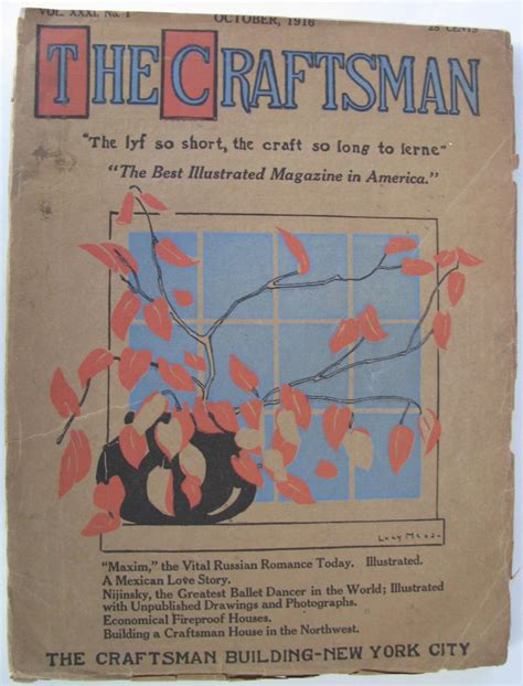 The Craftsman Volume Xxxi Number 1 October 1916 Very