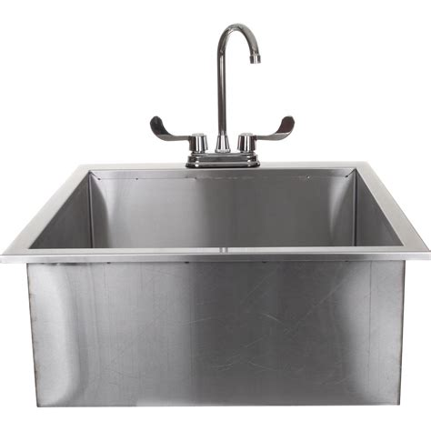 Bbqguyscom 24inch Outdoor Rated Drop In Deep Sink With