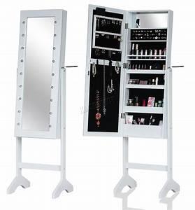 Make Up Schrank : westwood stehend spiegel schrank make up schmuckk stchen lager verschlie bar ebay ~ Frokenaadalensverden.com Haus und Dekorationen