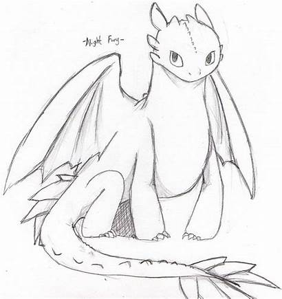 Fury Night Drawing Toothless Coloring Dragon Pages