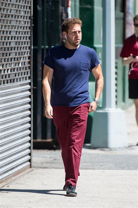 jonah hill walking  nyc pictures july  popsugar