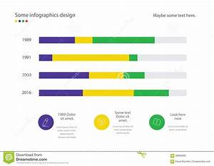 Infographic Line Diagram Or Bar Design With Percent