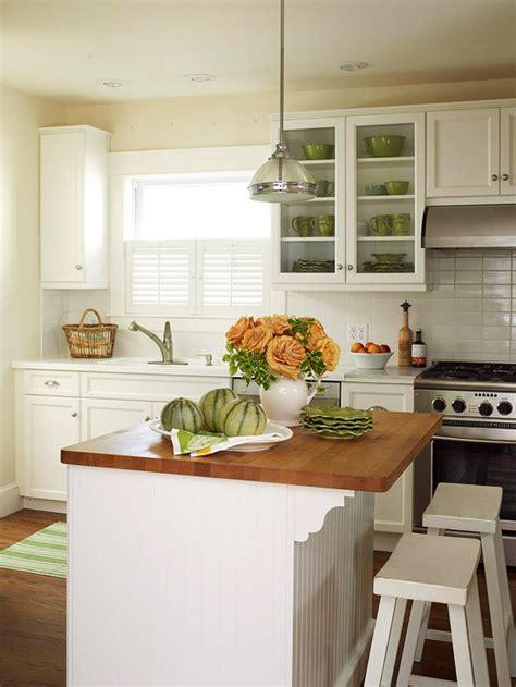 beadboard kitchen island cottage kitchen bhg
