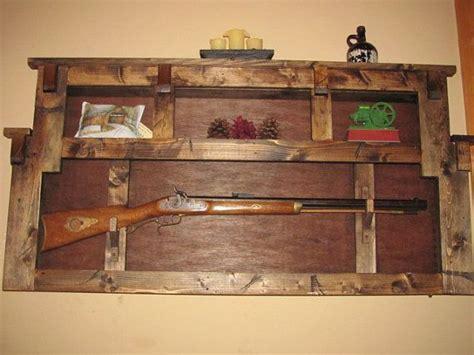 rustic gun rack plate display wall shelf  nccountrycrafters    def  claytons