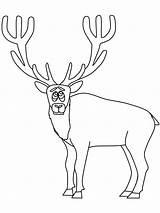 Coloring Pages Elk Animals Printable Hunting Popular Coloringpagebook Coloringhome Advertisement sketch template
