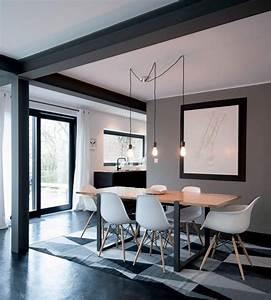 Idee couleur salon salle a manger 3 salon gris sur for Idee deco cuisine avec meuble salle a manger complete contemporain
