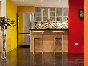 painting kitchen walls pictures ideas tips from hgtv With what kind of paint to use on kitchen cabinets for art for yellow walls