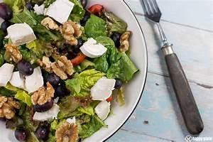 Salat Selber Anbauen : salat mit ziegenk se weintrauben und waln ssen happy plate ~ Markanthonyermac.com Haus und Dekorationen