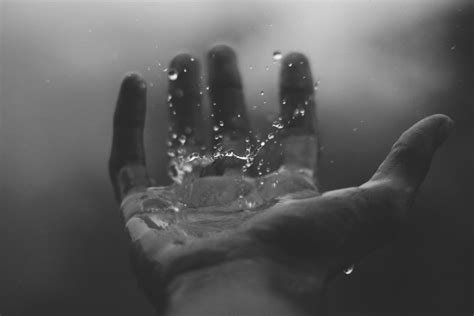 picture monochrome hand finger water