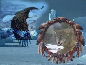 Native American Wolf Screensavers