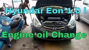 Hyundai Eon 1 0 L Kappa Engine Oil  U0026 Oil Filter Change