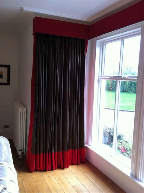 stunning black  red curtains  modern touch atzinecom