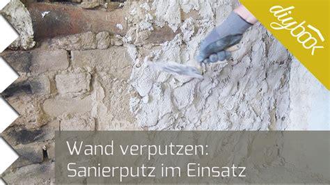 Sandstein Verputzen Aussen wand verputzen sanierputz im einsatz