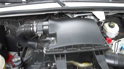 mercedes dodge sprinter air filter replacement youtube