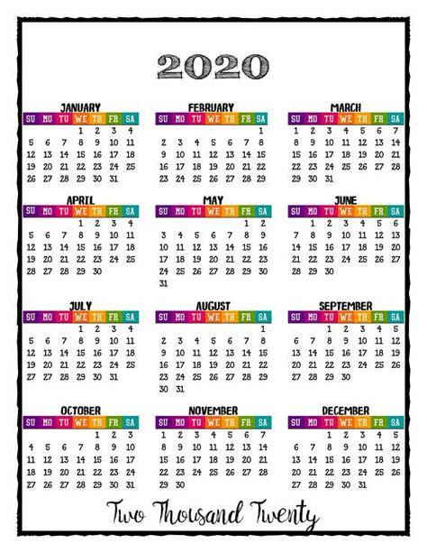 printable caribbean color calendar wall calendar full year