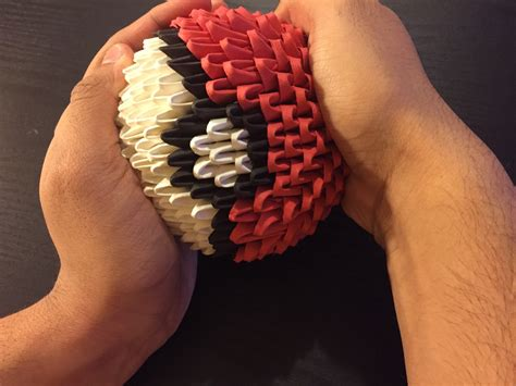 How To Make Fall Decorations At Home: How To Make A 3D Origami Pokéball (with Pictures)
