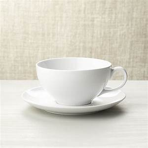 Cappuccino Cup with Saucer Crate and Barrel