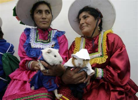 anorak news perus guinea pig festival   playing   food