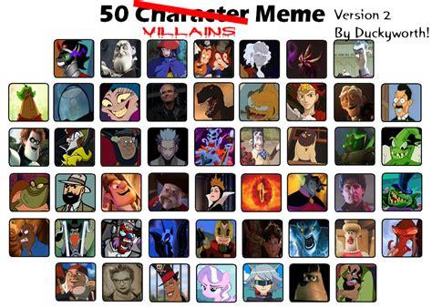 Villain Meme - 50 villains meme part 2 by duckyworth on deviantart