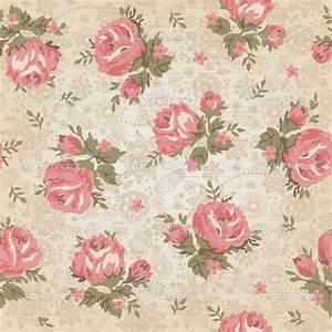 Vintage Flower Background   Vintage seamless floral ...